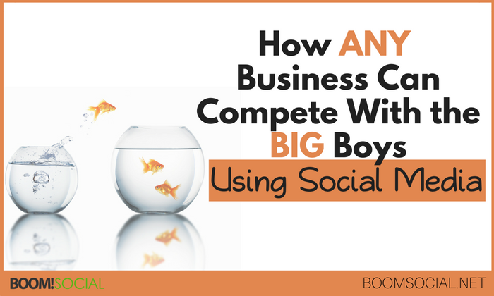 How Any Business Can Compete With The Big Boys Using Social Media